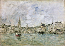 The Port at Honfleur, 1896 by Eugene Louis Boudin