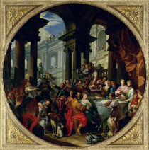 Feast under an Ionic Portico by Giovanni Paolo Pannini or Panini