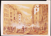 The Army Attacking a Barricade in Rue St. Antoine von French School