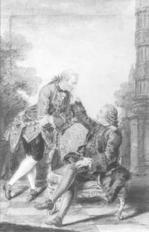 Denis Diderot and Melchior by Carmontelle