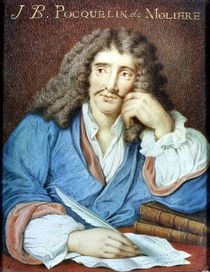 Portrait of Moliere von French School