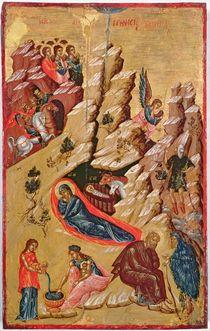 Icon depicting the Nativity von Greek School