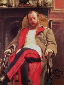Portrait of Zesar Kjui , 1890 von Ilya Efimovich Repin