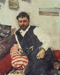 Portrait of Konstantin Korovin von Valentin Aleksandrovich Serov