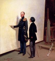 Tsar and Artist - Nikolay I in the Artist's Atelier by Bogdan Pavlovich Villeval'de