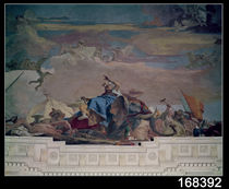Asia, one of the Four Continents from the ceiling of the 'Treppenhaus' by Giovanni Battista Tiepolo