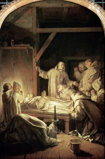 The Death of St. Bruno 6th October 1101 von Eustache Le Sueur