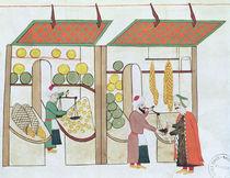 Ms.1671 Two Fruit Shops, c.1580 by Islamic School