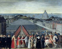 Procession of the Brotherhood of Saint-Michel in 1615 von French School