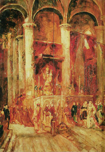 Procession in a Church by Jean-Baptiste Isabey