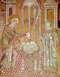 The Baptism of St. Paul by Ananias von Byzantine School