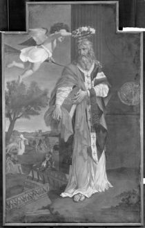 St. Denis Crowned by an Angel von Nicolas Poussin