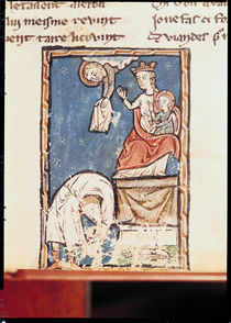 Ms 3516 f.127 The Juggler of Notre Dame by French School