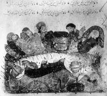 Ms Ar 5847 f.11, A caravan rest von Yahya ibn Mahmud Al-Wasiti