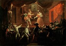 Scenes from 'Roman Comique' by Paul Scarron 1712-16 von Jean de Coulom