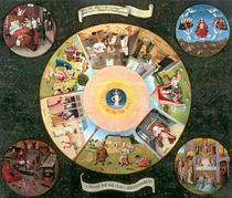 Tabletop of the Seven Deadly Sins and the Four Last Things von Hieronymus Bosch