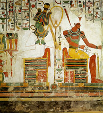 The Gods Osiris and Atum, from the Tomb of Nefertari von Egyptian 19th Dynasty