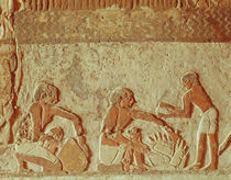 Relief depicting the making and baking of bread by Egyptian 5th Dynasty