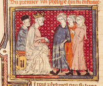 F.204v King Philippe I , Grandes Chroniques de France by French School