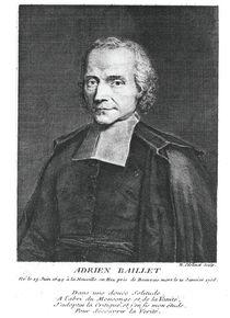 Portrait of Adrien Baillet von Nicolas Etienne Edelinck