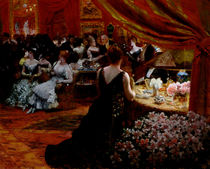 The Salon of Princess Mathilde 1883 by Giuseppe or Joseph de Nittis