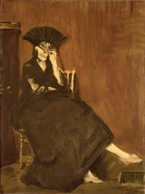 Berthe Morisot with a Fan, 1872 von Edouard Manet