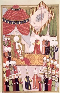 The Coronation of Sultan Selim I from the 'Hunername' by Lokman by Ottoman School