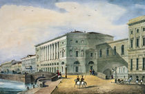 The Hermitage Theatre as Seen from the Vassily Island by Russian School