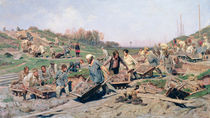 Repair Works on the Railway Line by Konstantin Apollonovich Savitsky