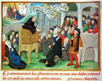Ms.230 fol.57 Monk Preaching on Imitation by French School