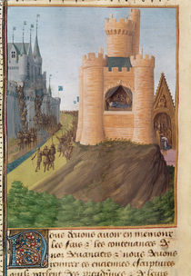 Ms Fr 6465 f.251 The Death of Louis VIII King of France von Jean Fouquet