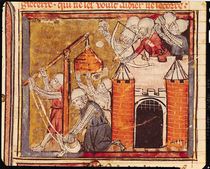 f.275r Siege of the Chateau of Chinon by French School