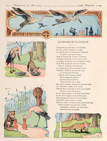 The Stork and the Fox, from the 'Fables' by Jean de la Fontaine 1906 by Benjamin Rabier