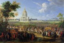 Louis XIV and his Entourage Visiting Les Invalides von Pierre-Denis Martin