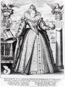 Queen Elizabeth I 1596 von Crispin I de Passe
