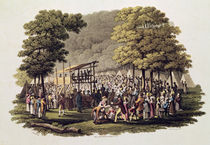 Camp Meeting of the Methodists in North America von Jacques Milbert
