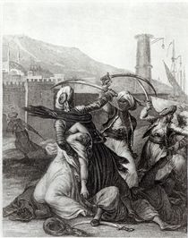 'My captain kept me concealed behind him von Jean Michel the Younger Moreau