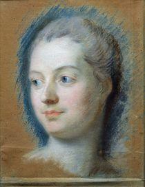 Portrait of Madame de Pompadour 1752 by Maurice Quentin de la Tour