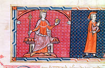 A Woman Taking an Oath before King James I of Majorca by Spanish School