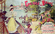 Poster advertising the spa resort of Enghien-les-Bains von French School