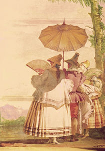 The Summer Promenade, c.1757 by Giandomenico Tiepolo