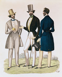 Fashion plate depicting male clothing by French School