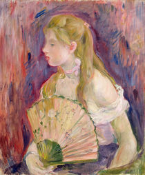 Young Girl with a Fan, 1893 by Berthe Morisot