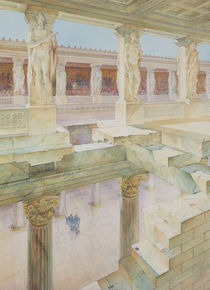 Study of a Roman Temple von Georges Paul Chedanne