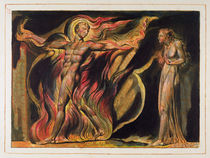 A Naked Man in Flames, plate 26 from 'Jerusalem' by William Blake