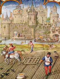 Fol.10v Month of October: Sowing by Flemish School