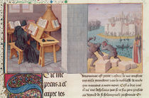 Ms.fr.273 fol.7 Livy Writing and the Foundation of Rome by Jean Fouquet