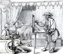 Instruments of Mathematical Precision for Executing Portraits von Albrecht Dürer