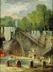 The Washerwomen von Hubert Robert