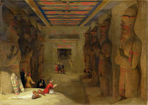 The Hypostyle Hall of the Great Temple at Abu Simbel by David Roberts